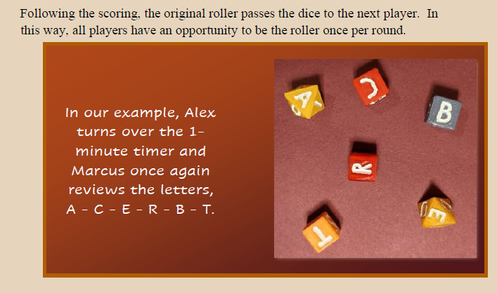 Snippet from Anabid! Rulebook